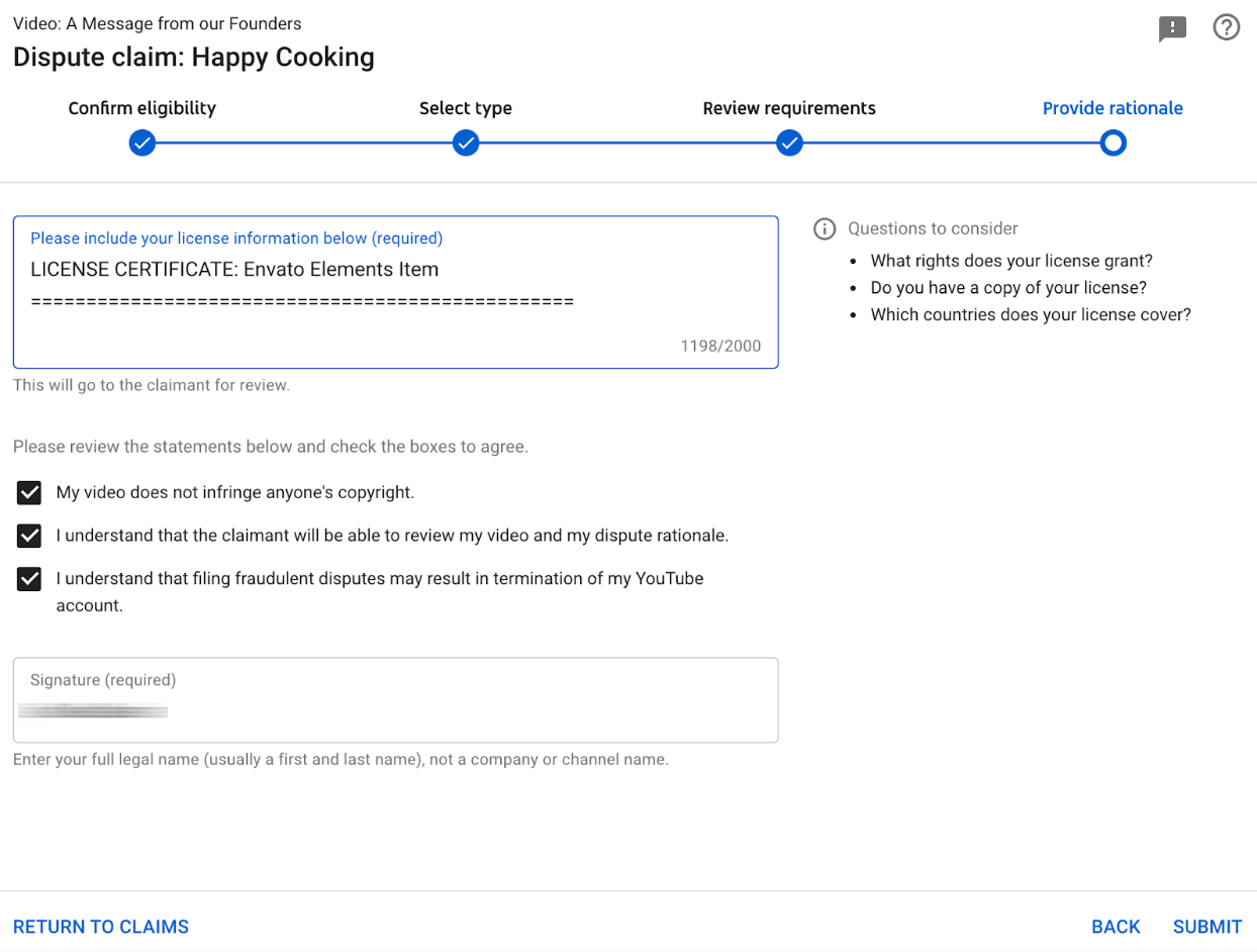 Guide to YouTube Content ID & Copyright Notices – Envato Elements Help  Center